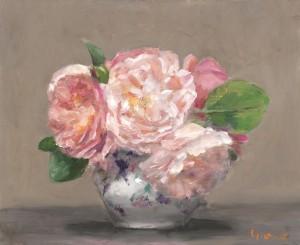 Bouquet de Roses 27x22cm H/T